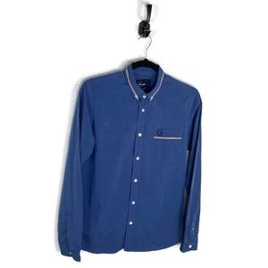 Fred Perry | Slim Fit Button Down Shirt Blue Small